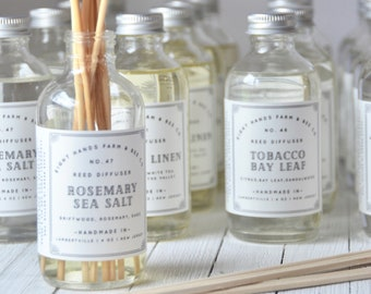 Reed Diffuser, Reed Diffusers, Home fragrance, Flameless Candle, Wood Reeds, Diffuser, Phthalate Free Diffuser, Non Toxic Reed Diffuser