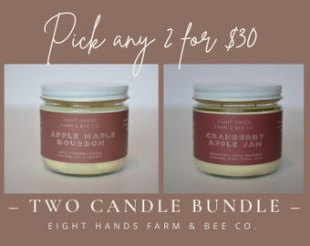 Candle Bundle, Candles, Soy Candles, Beeswax Candles, Non Toxic Candle, Beeswax Soy Candles, Candles, Fall Candles, Candle, Clear Jar Candle