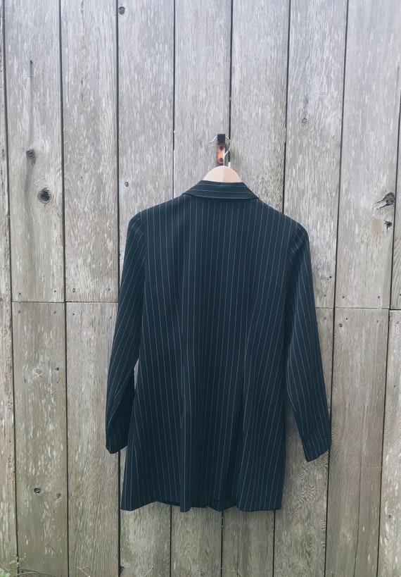 Vintage pant suit / pinstripe Trousers / Pinstrip… - image 6