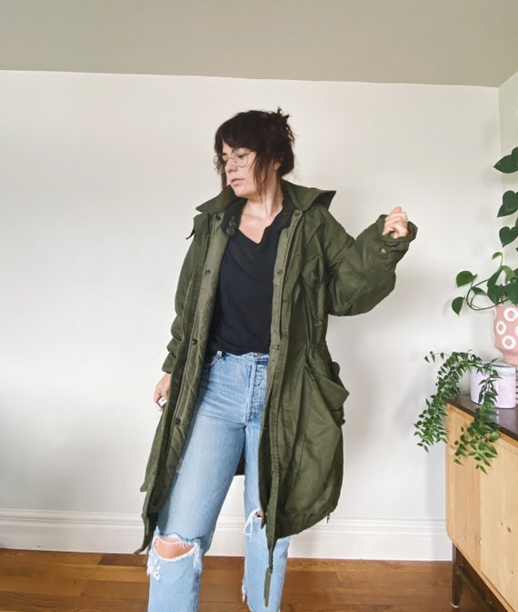 Vintage Military Jacket / Oversized Military Jack… - image 3