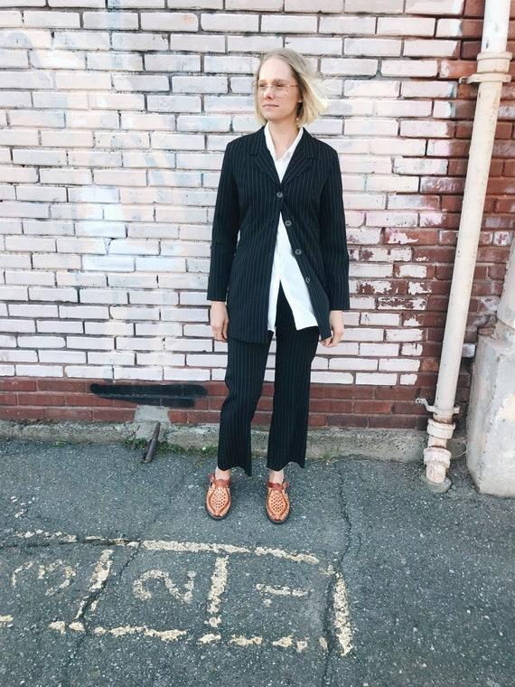 Vintage pant suit / pinstripe Trousers / Pinstripe