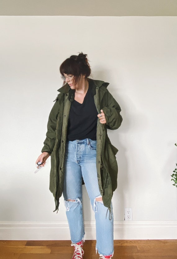 Vintage Military Jacket / Oversized Military Jack… - image 2