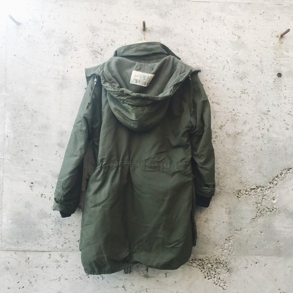Vintage Military Jacket / Oversized Military Jack… - image 5