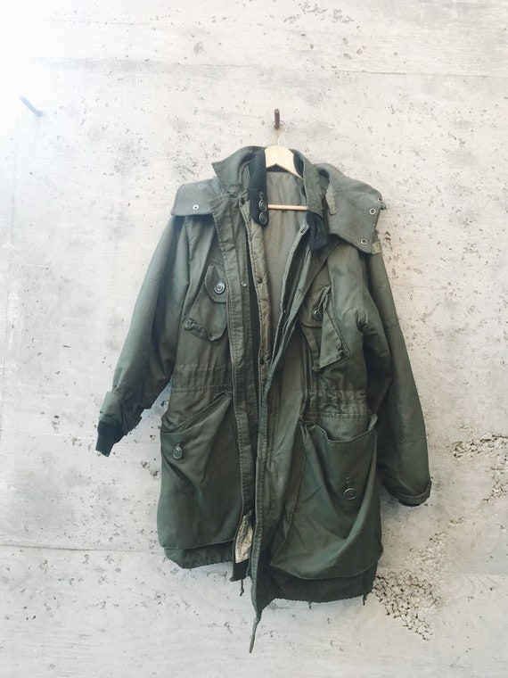Vintage Military Jacket / Oversized Military Jack… - image 4