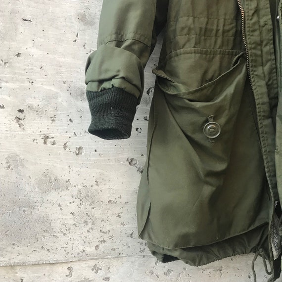 Vintage Military Jacket / Oversized Military Jack… - image 9