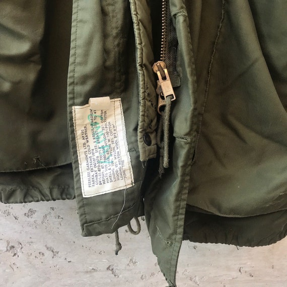 Vintage Military Jacket / Oversized Military Jack… - image 7