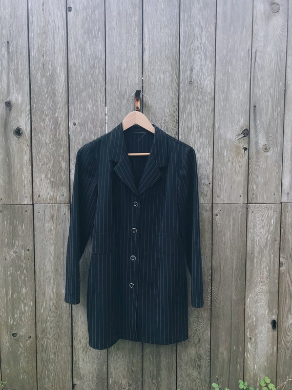 Vintage pant suit / pinstripe Trousers / Pinstrip… - image 5