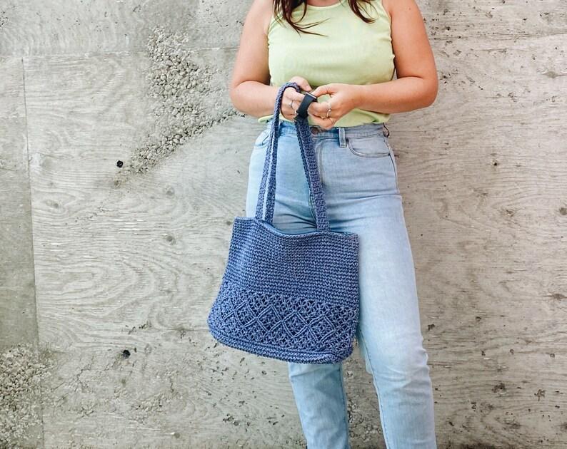 Vintage purse  90s Purse  Boho  Boho Bag  weave purse  Blue  Pumpernickel Blue  Slouchy Bag  Book Bag