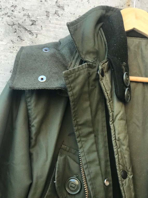 Vintage Military Jacket / Oversized Military Jack… - image 6
