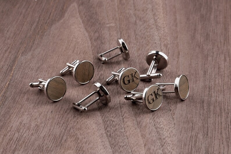 Engraved Tie Clip Personalized Tie Clip Cufflinks Groomsmen Tie Clips for Best Man Boyfriend Gift Tie Clip Cufflink Set Wooden Tie Clip