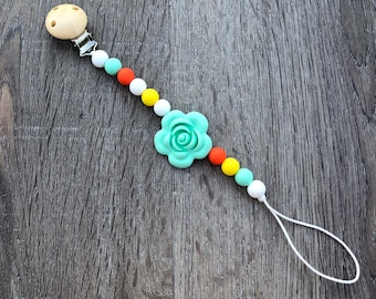 Silicone Pacifier Clip Binky Clip Dummy Teether Clip Soother Clip Baby Bite Beads Universal Clip Toy Clip Newborn Baby Girl Boy Chew Beads