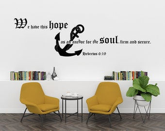 Bible verse hope- Wall Decal Vinyl Sticker for Home