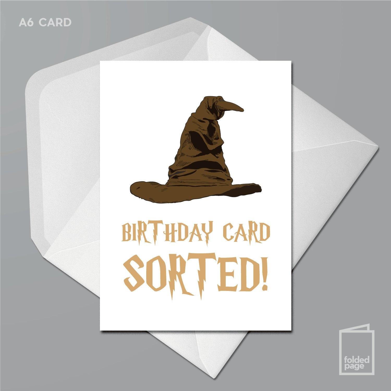 Geburtstagskarte sortiert Harry Potter Muggel sprechende | Etsy