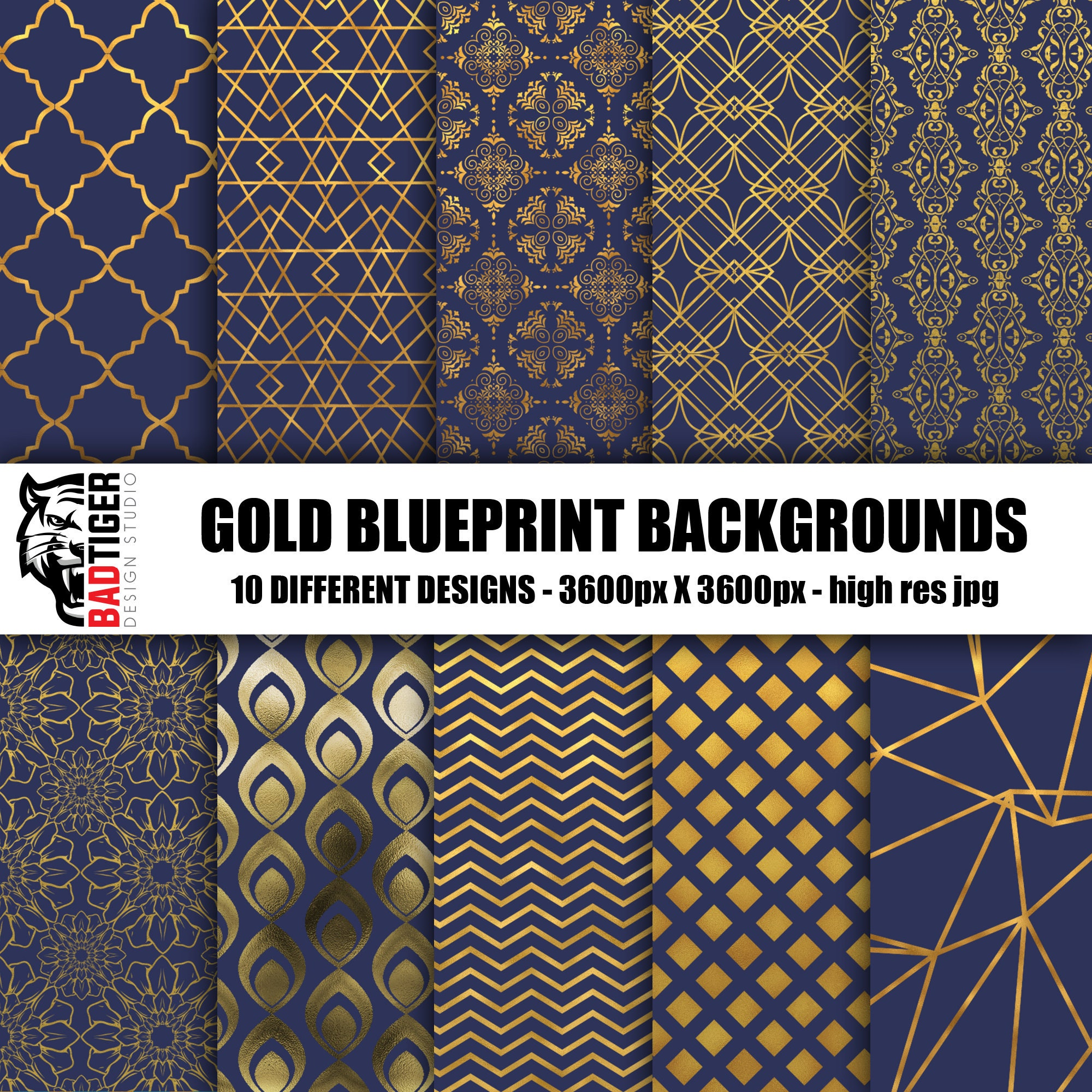 Blueprint gold pattern damask texture digital paper gold pattern this is a digital file malvernweather Images