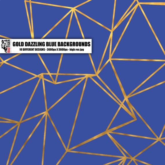 Brillant motif bleu or motif Brillant Damas Texture Digital Paper, papier de scrapbooking motif or, Baroque, Damas, or tutoriel, saphir fcf063