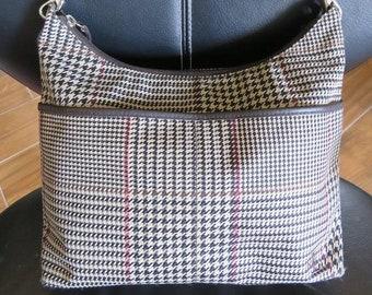 Ralph Lauren Hounds Tooth Plaid Purse LRL Lauren Ralph Lauren Vintage Purse 8c9fcd224b0be