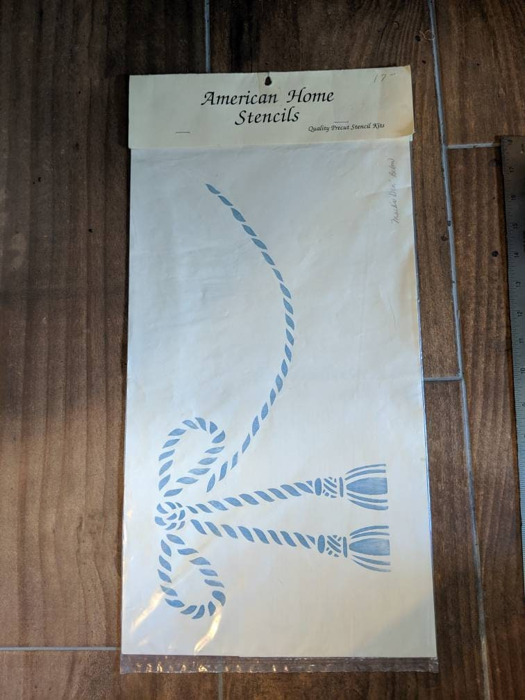 American Home StencilsPre Cut Stencil KitBowTassels1990/'sLaser Cut High Quality StencilUnopened with InstructionsMade in Wisconsin