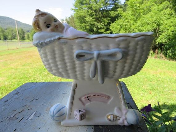 Jahrgang napcoware baby im stubenwagen wiege kinderzimmer etsy