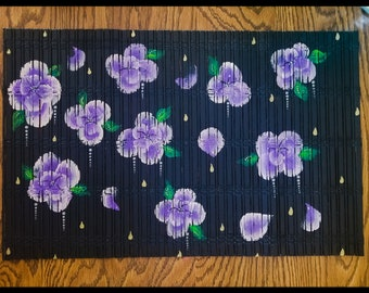 Hand Painted Bamboo Place Mat