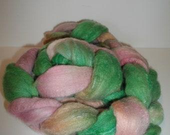 Merino/ silk roving