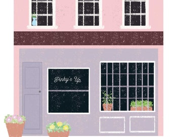 Pinky's Up! Flower Shop Print
