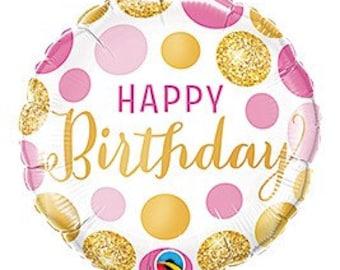 19 X 30 Happy Bday Balloon Birthday Party