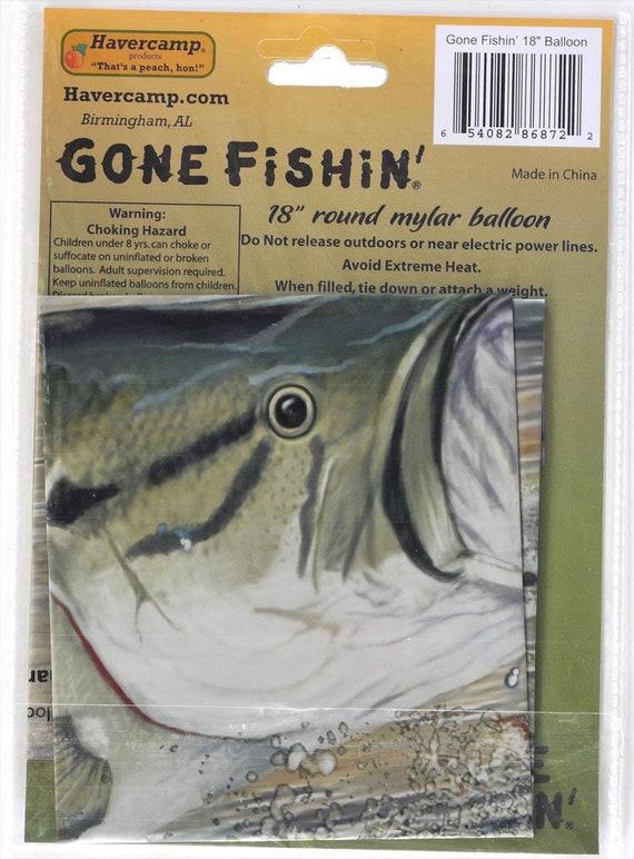 "Gone Fishin/' Mylar 18/"" Balloon Fishing Bass Birthday"