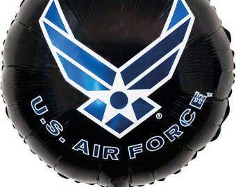 """U.S. Air Force 18"""" Balloon, Military Party, Military Retirement, Air Force Theme Birthday Party"""