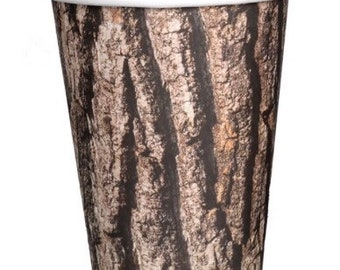 Cut Timber Cups, Lumberjack Party, Set of 8 Cups
