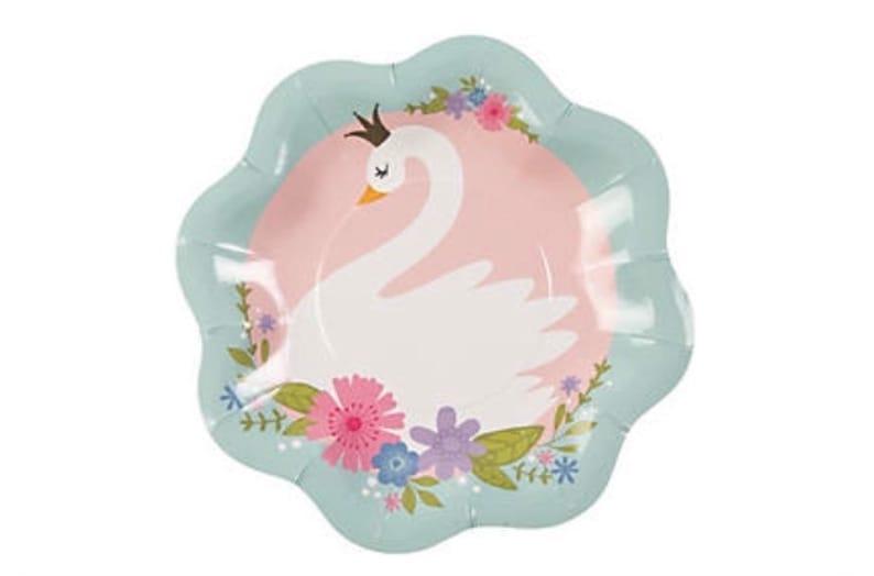 Sweet Swan Dessert Plates Swan Party Set of 8