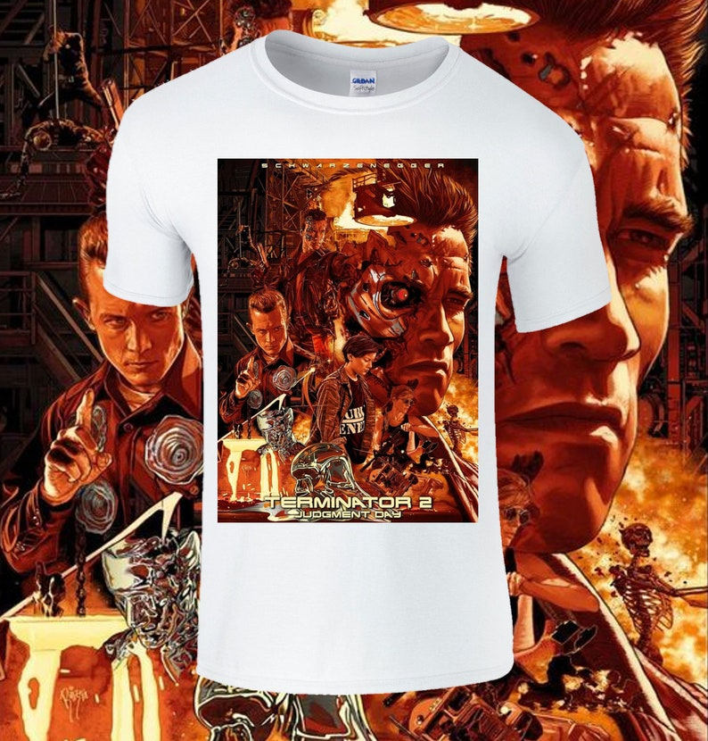 Terminator 2 Poster T-shirt for Adults or Kids