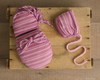 Wonder Wrap • 3 Pieces Set • Pink Striped