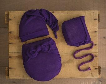 Wonder Wrap • 3 Pieces Set • Violet Textured