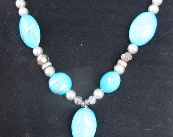 Glass Turquoise Necklace