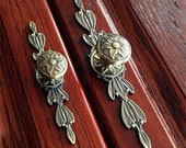 Dresser Pulls Drawer Knobs Pulls Handles Backplate Shabby Chic Door Knob Antique Bronze Kitchen Cabinet Door Handle Back Plate, 644