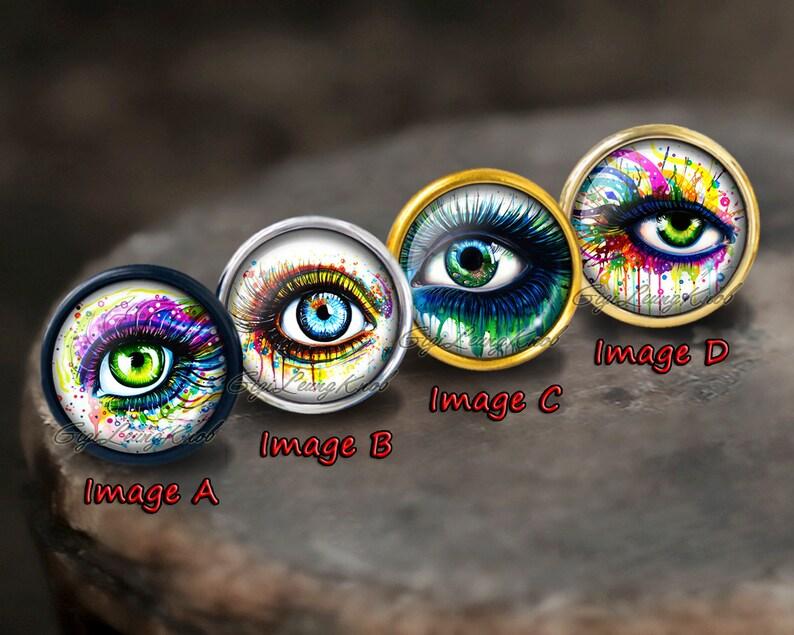 Eye Glass Cabochons Knobsillustration Cabinet Dresser Knobs pull Dresser Knobs Cabinet Pull handles Cabinet Knobs  Furniture Hardware