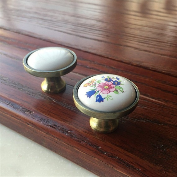 Peacock Feather  Retro Black Dresser Knobs  Cabinet Knobs  Furniture Knobs  5 Colors to Choose  Customized