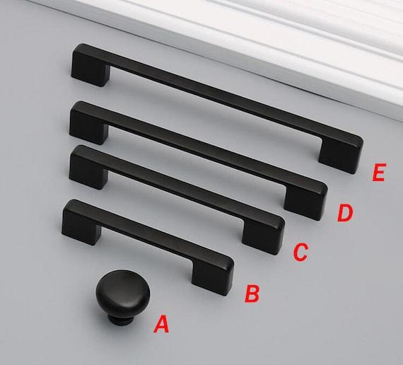 3.78/'/' 5/'/' 7.56/'/' Black Drawer Pulls Handles Knobs Dresser Pull Unique Kitchen Cabinet Door Knob Handle Modern Cupboard Handle 96 128 192mm