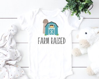 Farm Raised Baby Bodysuit  Christian Baby Apparel  Baby Shirts  Christian Bodysuit  Baby Clothing  Baby ONESIE®