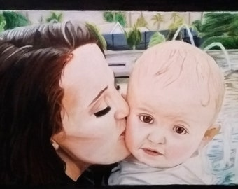 Personalized Hand Drawn Portraits - one to two people