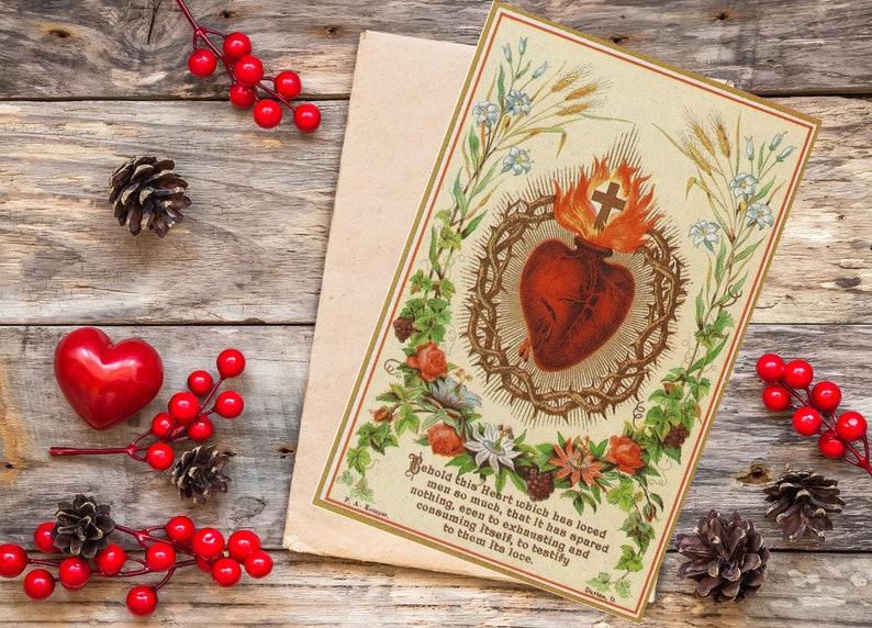 Sacred Heart of Jesus Printable Prayer Card w/ Words of Jesus image 0