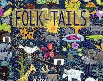 Folk-Tails Book By Sue Spargo - Quilt Patterns