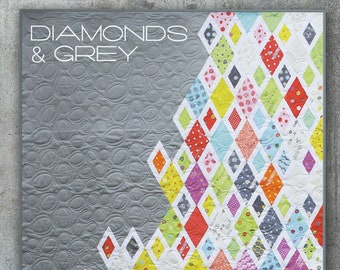 Diamonds and Grey Quilt Pattern