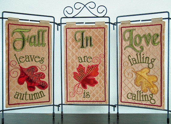FALL IN LOVE MACHINE EMBROIDERY PATTERN w//CD from Janine Babich Designs *NEW*