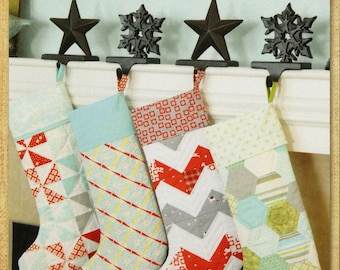 Merry Stockings Christmas Pattern -From Thimble Blossoms By Roskelley, Camille