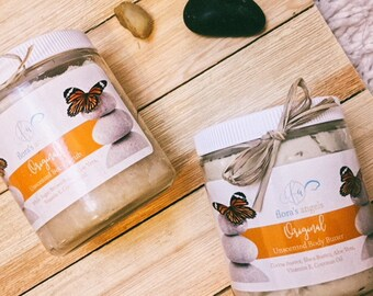 Free Shipping! Unscented Whipped Body Butter for Sensitive Skin | made with Shea Butter, Vitamin E, Coconut Oil & More