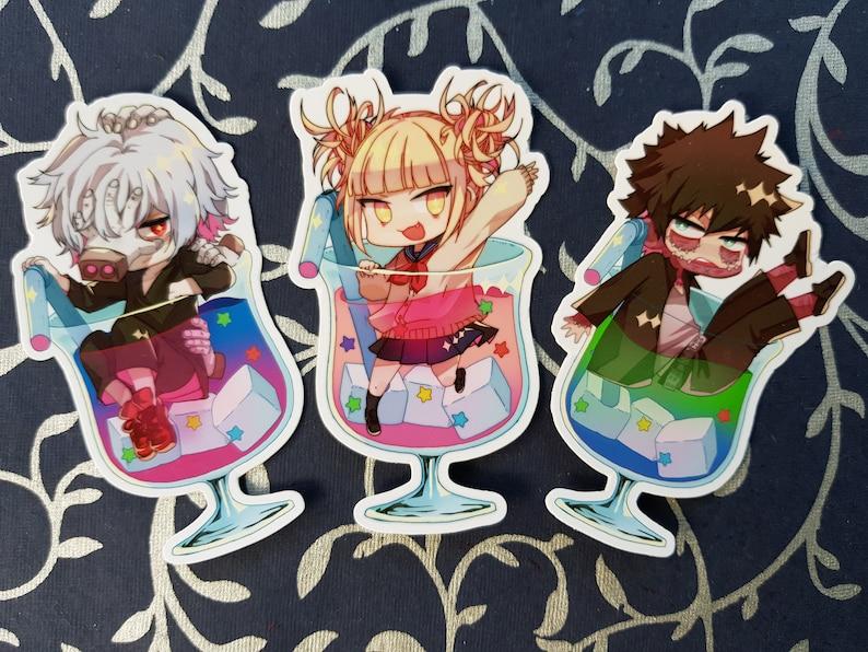 League of Villains BNHA die cut stickers set(My Hero Academia/boku no hero  academia)