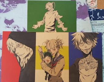 League of Villains BNHA Print/Postcard  set of 4 (My Hero Academia/boku no hero academia)