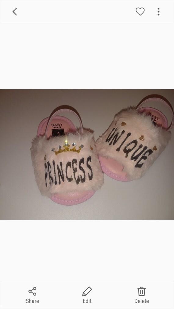 Pink Fur. Infant slides. toddler