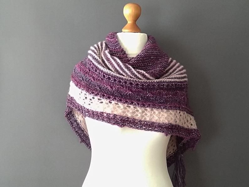 58ff9ee1425cd Triangular shawl shawl winter asseccory wool shawl | Etsy